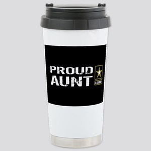 U.S. Army: Proud Aunt ( Stainless Steel Travel Mug