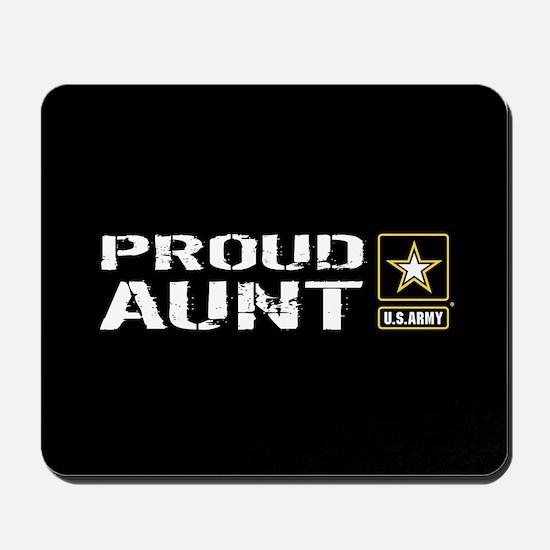 U.S. Army: Proud Aunt (Black) Mousepad