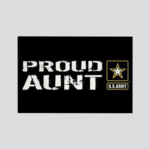 U.S. Army: Proud Aunt (Black) Rectangle Magnet
