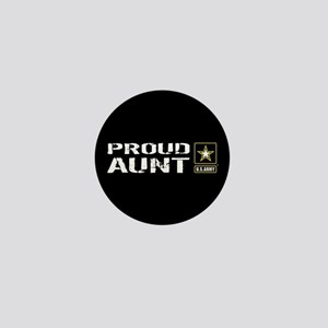 U.S. Army: Proud Aunt (Black) Mini Button