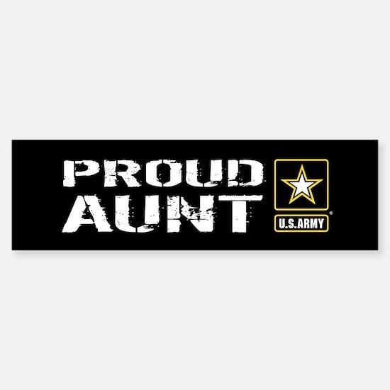 U.S. Army: Proud Aunt (Black) Sticker (Bumper)