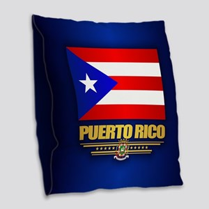 Puerto Rico Burlap Throw Pillow