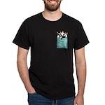 Cat Pocket Dark T-Shirt