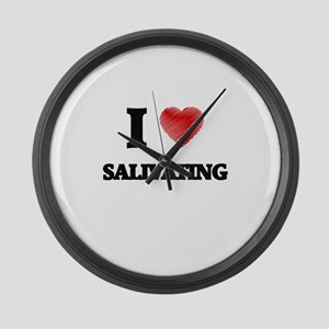 I Love Salivating Large Wall Clock