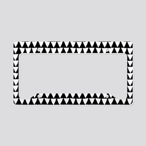 Black: Triangle Arrows Patter License Plate Holder