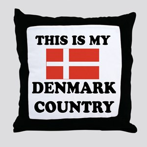 This Is My Denmark Country Throw Pillow