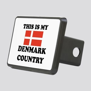 This Is My Denmark Country Rectangular Hitch Cover