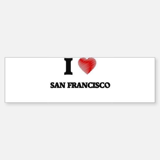 I Love San Francisco Bumper Bumper Bumper Sticker