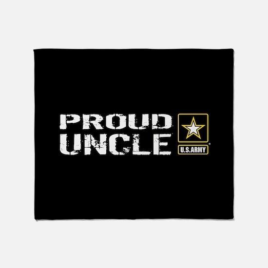 U.S. Army: Proud Uncle (Black) Throw Blanket