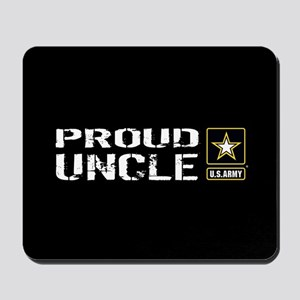 U.S. Army: Proud Uncle (Black) Mousepad