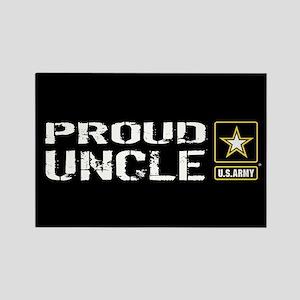 U.S. Army: Proud Uncle (Black) Rectangle Magnet