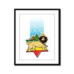 Zion Lion Framed Panel Print