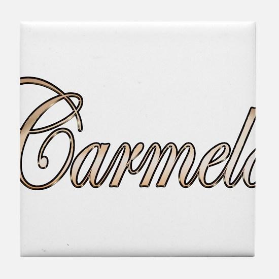 Gold Carmelo Tile Coaster