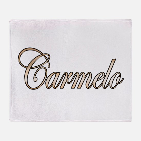 Gold Carmelo Throw Blanket