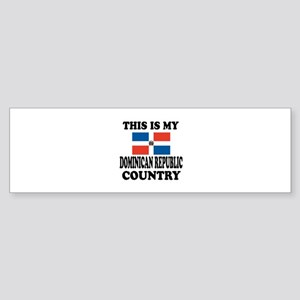 This Is My Dominican Republic Cou Sticker (Bumper)