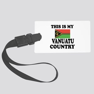 This Is My Vanuatu Country Large Luggage Tag