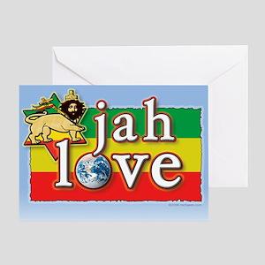 Ethiopian orthodox greeting cards cafepress jah love greeting card m4hsunfo
