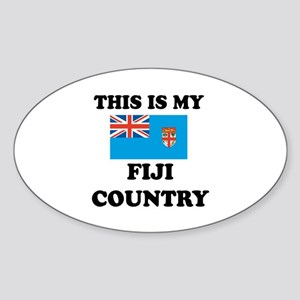 This Is My Fiji Country Sticker (Oval)