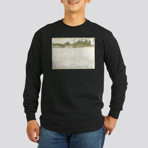 Vintage Map of The Hamptons (1 Long Sleeve T-Shirt