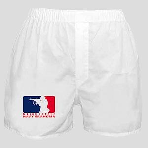 Major League Grndma 2 - NAVY  Boxer Shorts