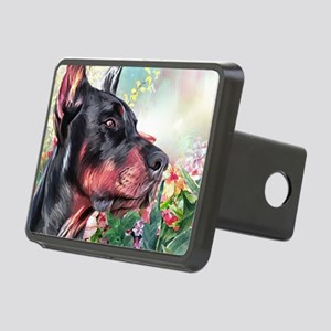 Doberman Painting Hitch Cover