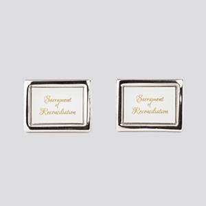 Sacrament of Reconciliation Rectangular Cufflinks