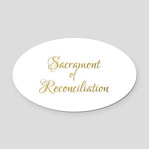 Sacrament of Reconciliation Oval Car Magnet