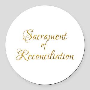 Sacrament of Reconciliation Round Car Magnet