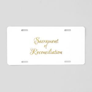 Sacrament of Reconciliation Aluminum License Plate