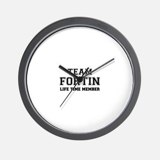 Team FORTIN, life time member Wall Clock