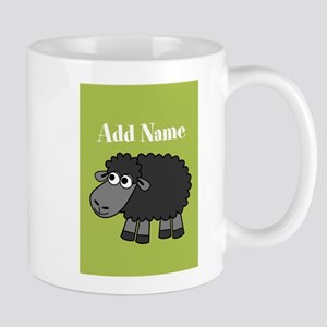Black Sheep Add Name Lime Mugs
