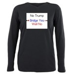 No Trump with suits Plus Size Long Sleeve Tee