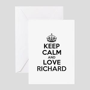 Keep Calm and Love RICHARD Greeting Cards
