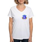 Thug Free America Women's V-Neck T-Shirt