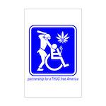 Thug Free America Mini Poster Print
