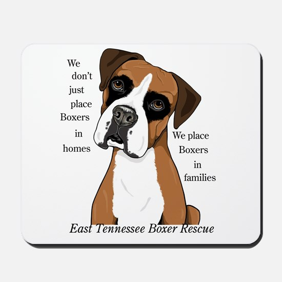 East Tennessee Boxer Rescue Mousepad