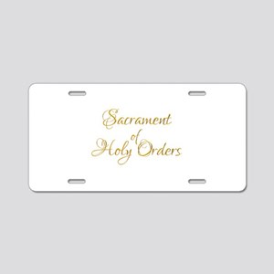 Sacrament of Holy Orders Aluminum License Plate