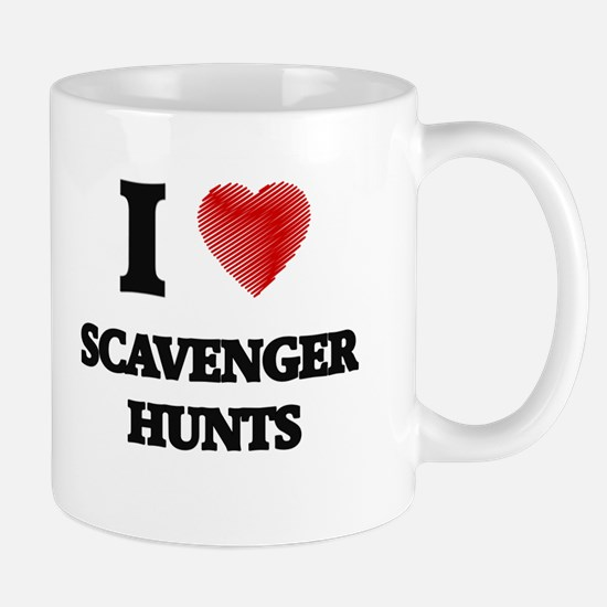 I Love Scavenger Hunts Mugs