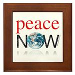 Peace Now Framed Tile