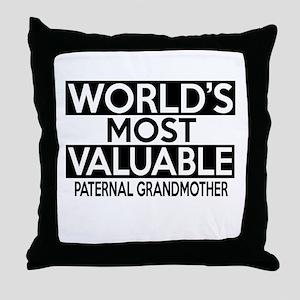 World's Most Valuable Paternal grandm Throw Pillow