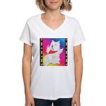 Happy Angel Women's V-Neck T-Shirt