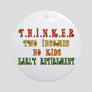 Child-Free Thinker Ornament (Round)