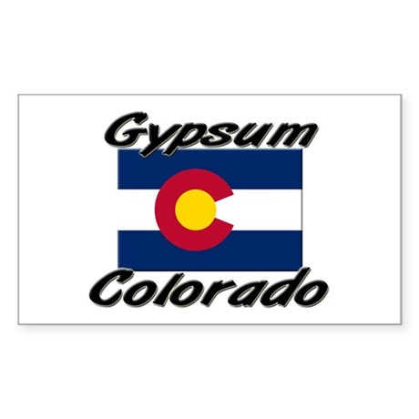 Gypsum Colorado Rectangle Sticker