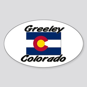 Greeley Colorado Oval Sticker