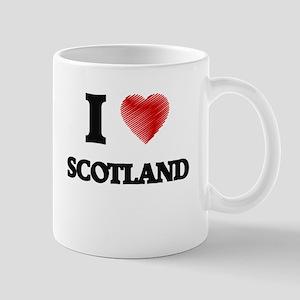 I Love Scotland Mugs