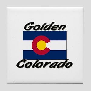 Golden Colorado Tile Coaster