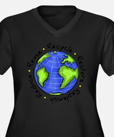 Recycle - Reduce - Reuse - Replenish Plus Size T-S
