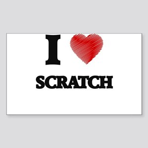 I Love Scratch Sticker