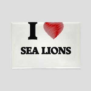 I Love Sea Lions Magnets