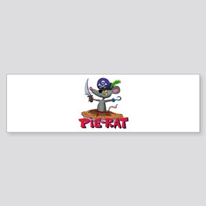 Pie-rat pirate Bumper Sticker